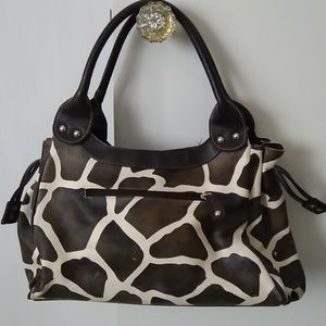 Handbags - Giraffe print bowler purse